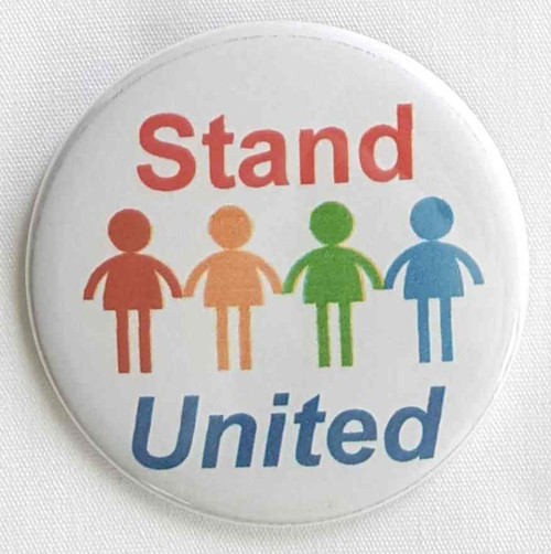 Use your Stand United button for your next parade or rally.  Use your Stand United button for your next meeting, company outing or sponsored event, fundraiser.  Proudly display individual colors that is perfect for Parades, Organizations, Marathons, Thank You Donations., Foundations.