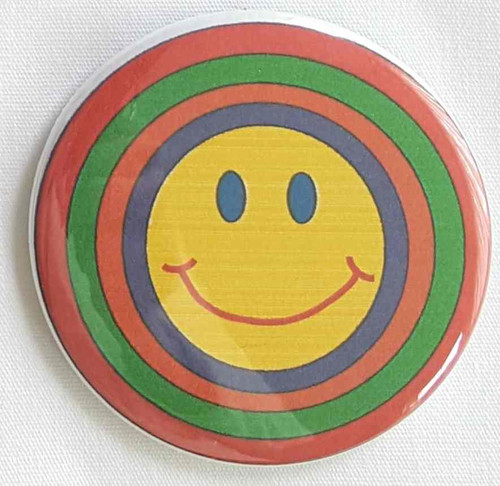 Use your I happy face button for your next parade or rally.  Use your happy face button for your next meeting, company outing or sponsored event, fundraiser.  Proudly display individual colors that is perfect for Parades, Organizations, Marathons, Thank You Donations., Foundations. Button size is 2.5""