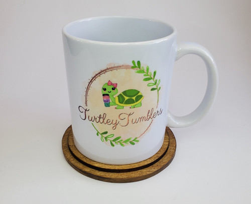Add your logo to a mug for that perfect advertisement handout!    Send us a very clear .jpeg file of both sides and we will work off of that picture.