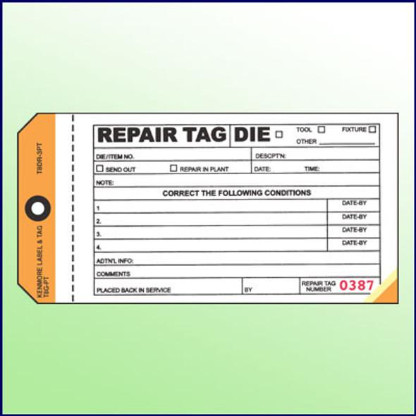 Repair Tag - 3 Part