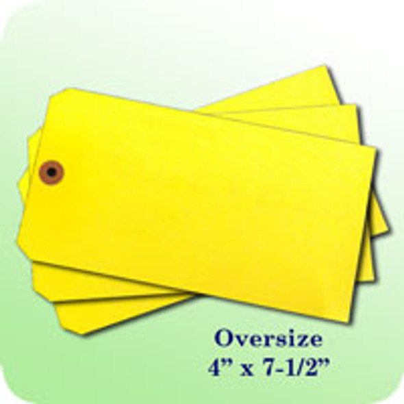 Blank Oversize Tag (Yellow)