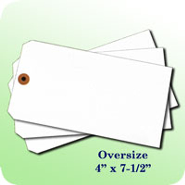 Blank Oversize Tag (White)