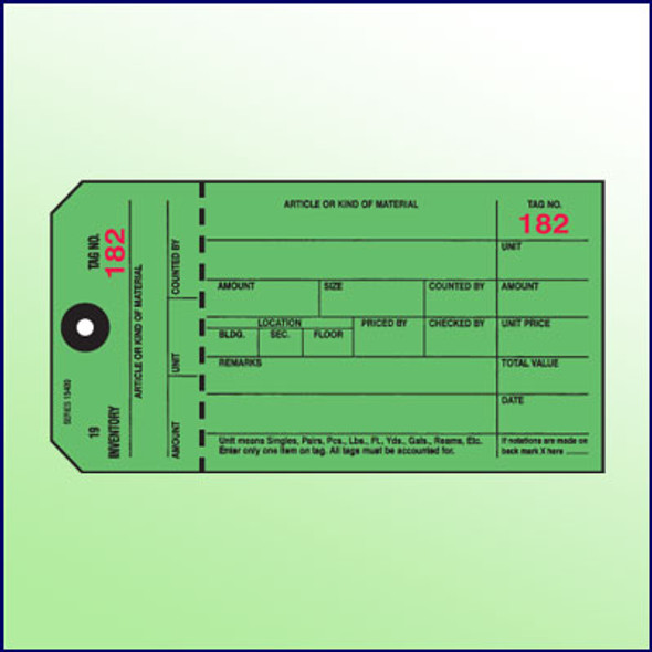 Inventory Control Tag (Green)