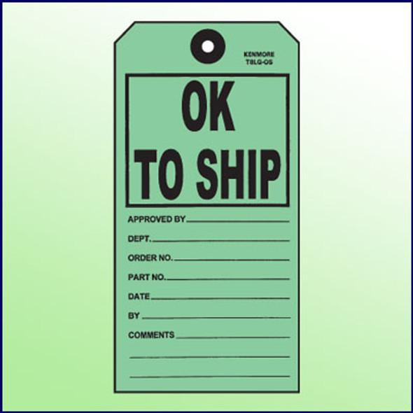 OK to Ship Tag
