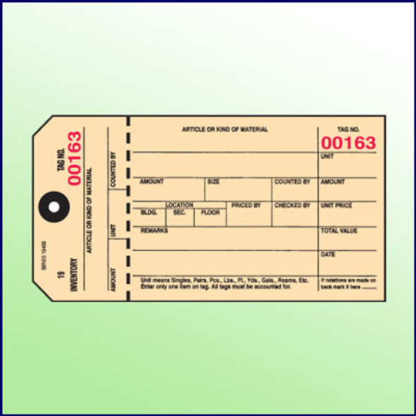 Inventory Control Tag (Manila)