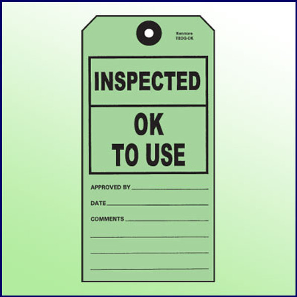 Inspected-OK to Use Tag