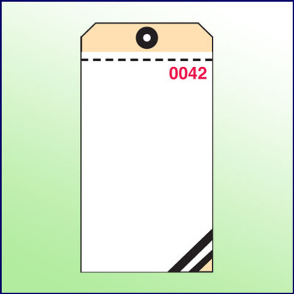 3 Part Carbon Tags  (White,Pink,Manila (blank))
