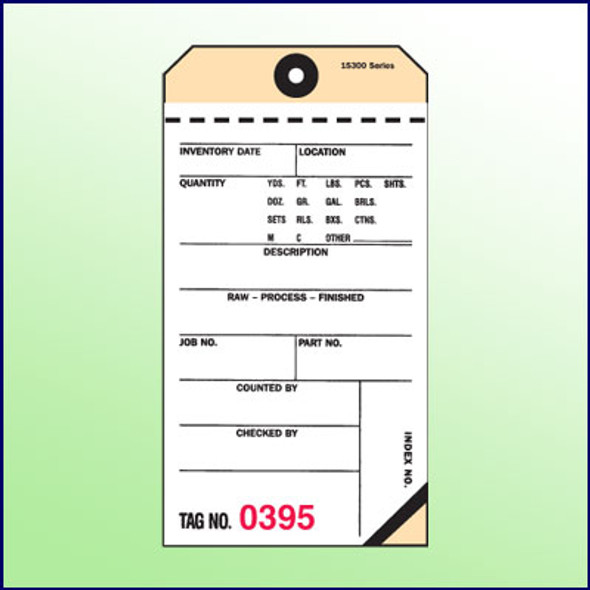 2-Part Carbon Tags -White/Manila (transfer tape)
