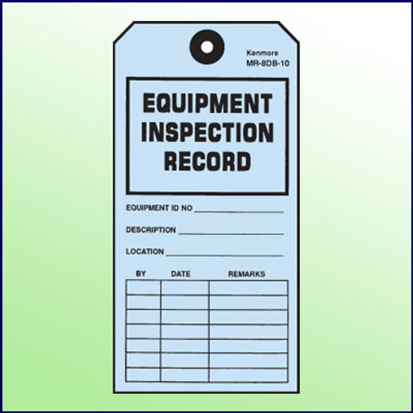 Equipment Inspection Record Tag