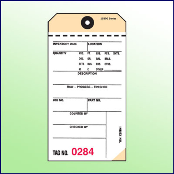 2Part NCR Tags  (White,Manila)
