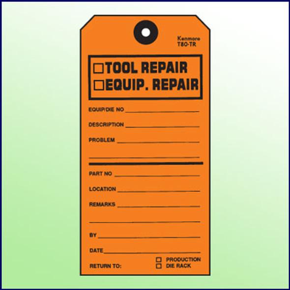 Tool Repair-Equipment Repair Tag