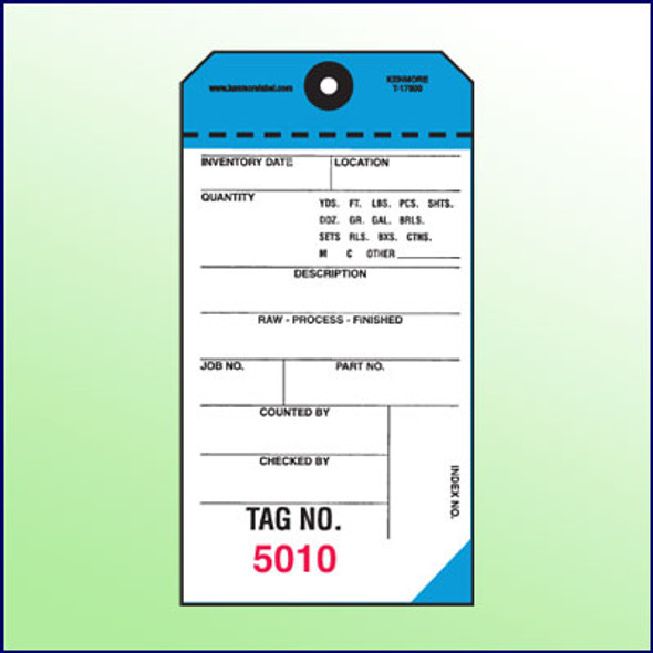 2-Part NCR Tags - Blue