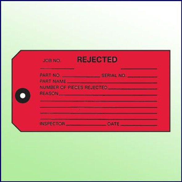 Rejected Inspection Tag - 1 part, Size 5