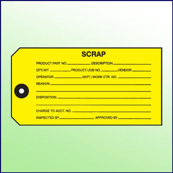 Scrap Inspection Tag - 1 part, Size 5