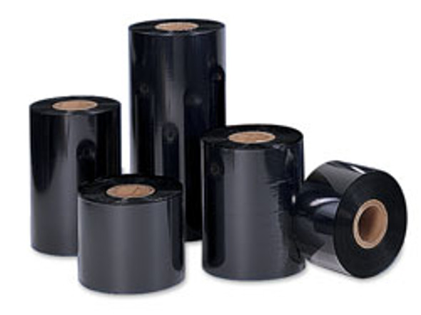 SONY - DNP 4085 Premium Black Wax (Resin Enhanced) - Thermal Transfer Ribbon for Zebra Printers - TR4085 PLUS BLACK WAX/RESIN TTR ̐ COATED SIDE OUT - 24 RLS/CASE 4.00ÌÒ X 1476' Zebra Ribbons