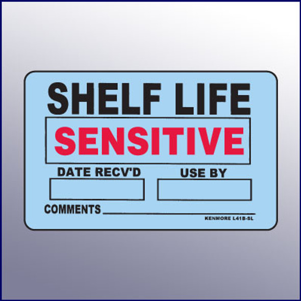 Shelf Life Sensitive Label 4 x 3