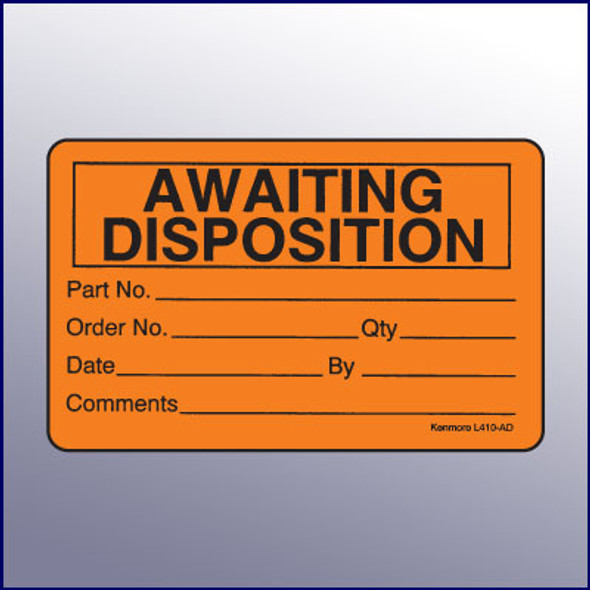 Awaiting Disposition Quality Assurance Label 4 x 3