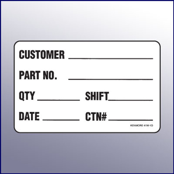 ID Quality Assurance Label  4 x 3