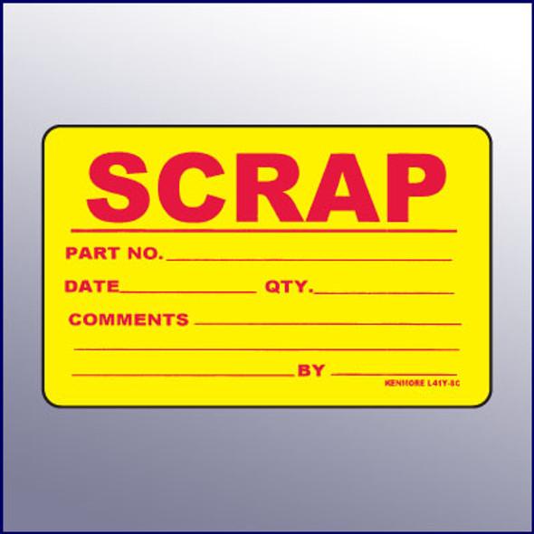 Scrap Quality Assurance Label  4 x 3
