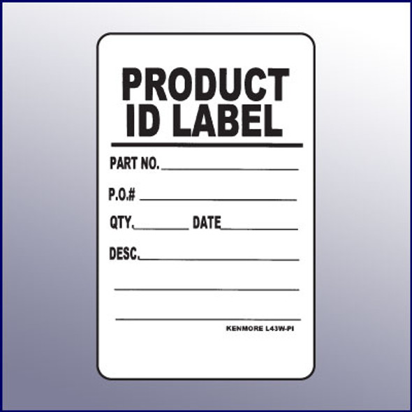 Product ID Quality Assurance Label 4 x 3