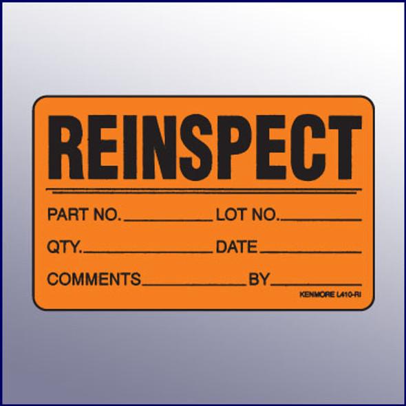 Reinspect Quality Assurance Label 4 x 3