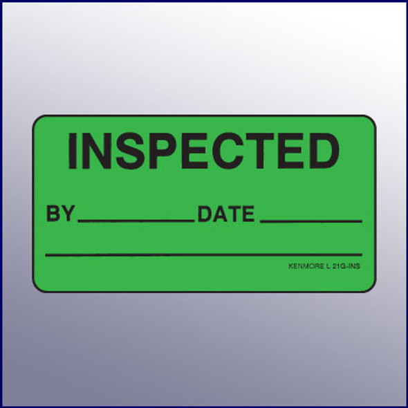 Inspected 100% - OK to Ship Quality Assurance Label 4 x 2