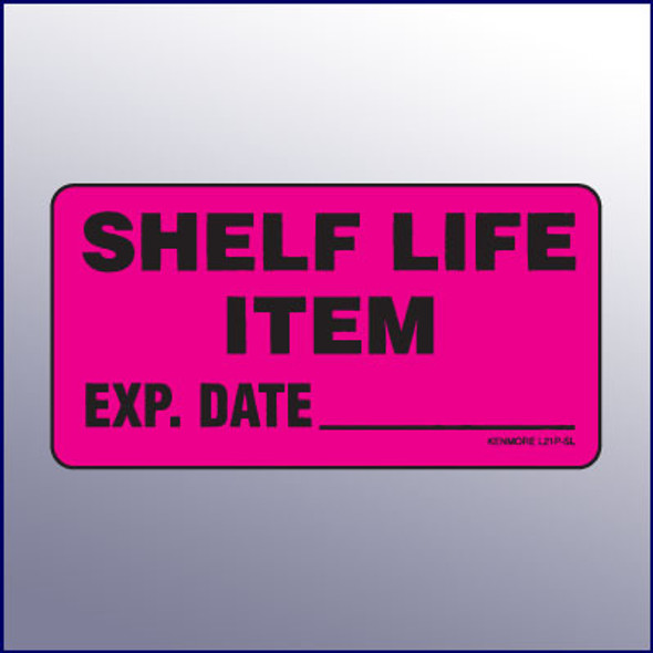 Shelf Life Item Label 4 x 2
