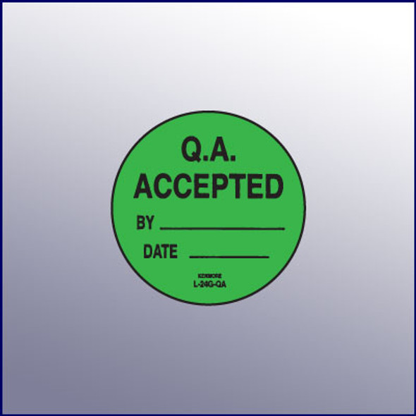QA Accepted  Label 1-3/4 dia.