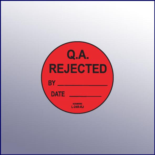 Rejected QA Label 1-3/4 dia.