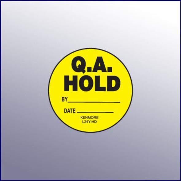 QA Hold Label 1-3/4 dia.