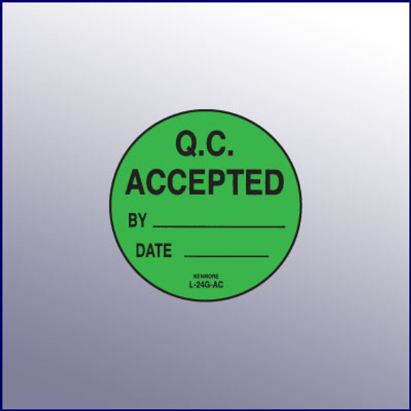 QC Accepted Label 1-3/4 dia.