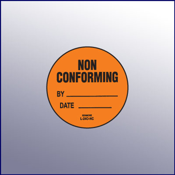 Non Conforming Label 1-3/4 dia.