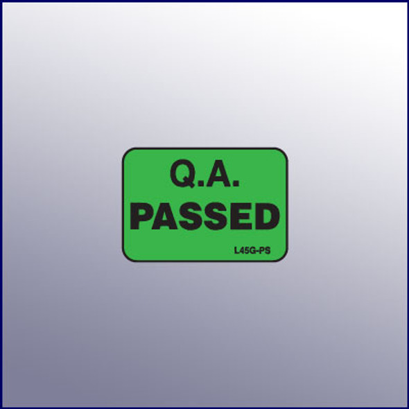 Passed Micro Quality Assurance Label