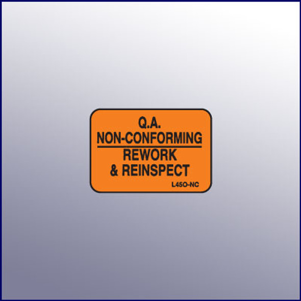 Non-Conforming Micro Quality Assurance Label
