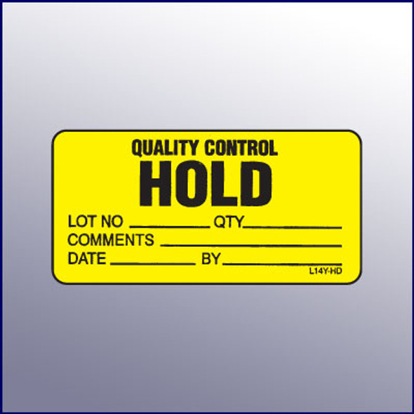 Hold Quality Control Mini Label 1-1/4 x 2-1/2