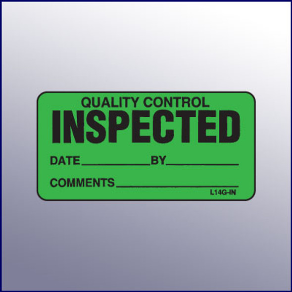 Inspected Quality Control Mini Label 1-1/4 x 2-1/2