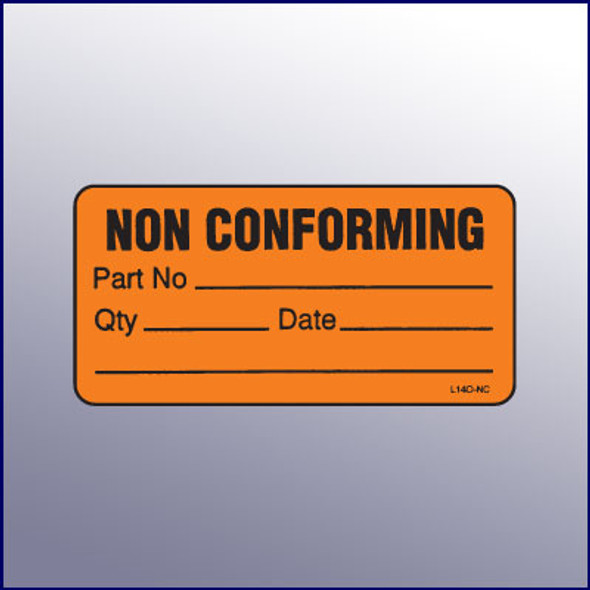 Non Conforming Mini Label 1-1/4 x 2-1/2