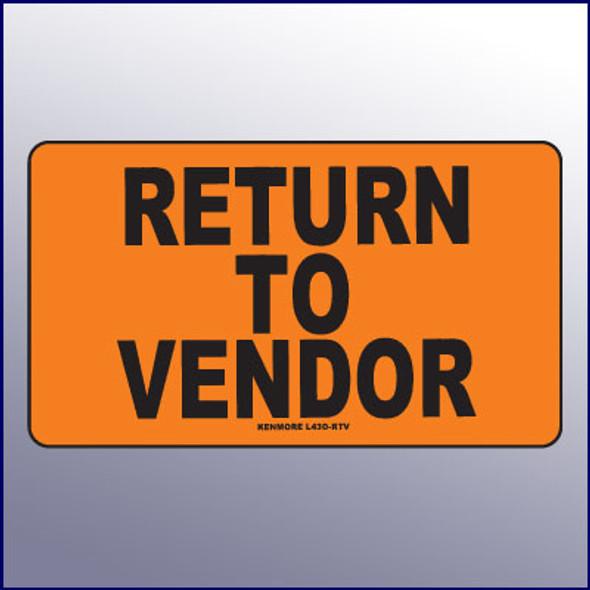 Return to Vendor Label
