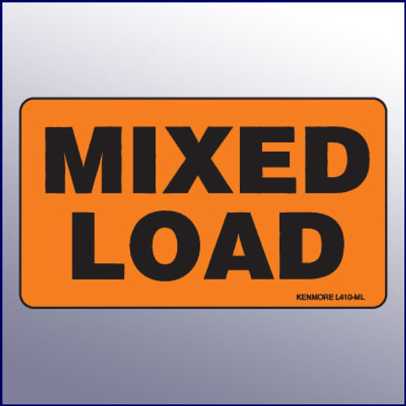 Mixed Load Label
