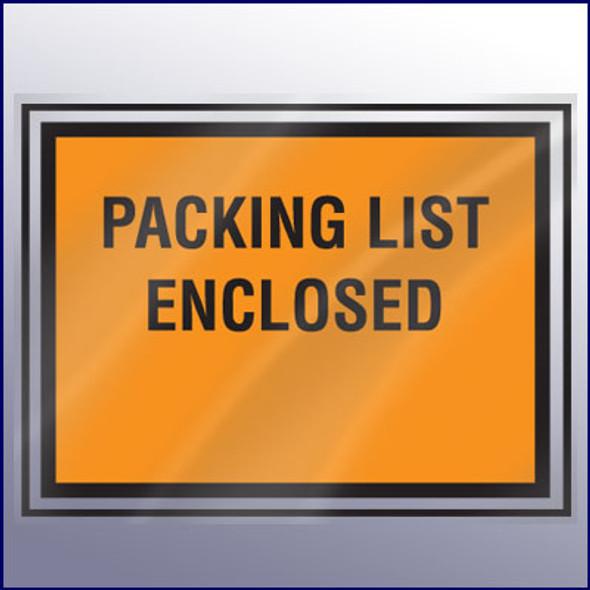 Packing List Enclosed Envelope - Large Print - Backloading