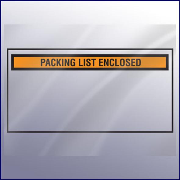 Packing List Enclosed Envelope - Wide - Backloading