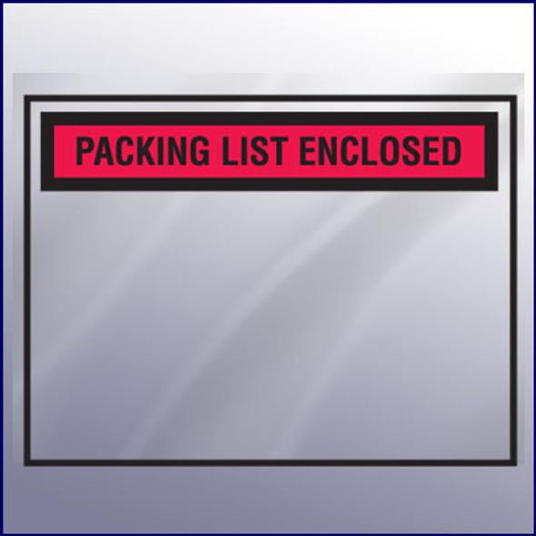 Blank Packing List Envelope - Backloading
