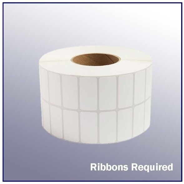 2 x 1 2up White Thermal Transfer Label