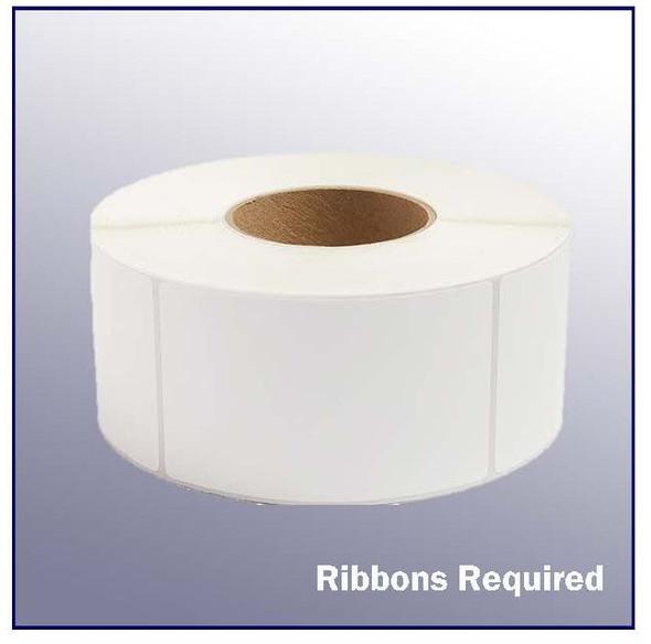 3.5 x 1 White Thermal Transfer Label