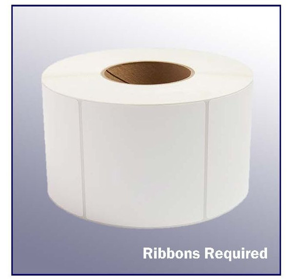 4 x 4 White Thermal Transfer Label