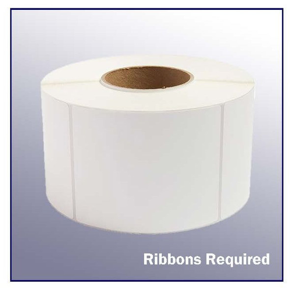 4 x 5 White Thermal Transfer Label