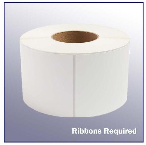 4 x 6.5 White Thermal Transfer Label