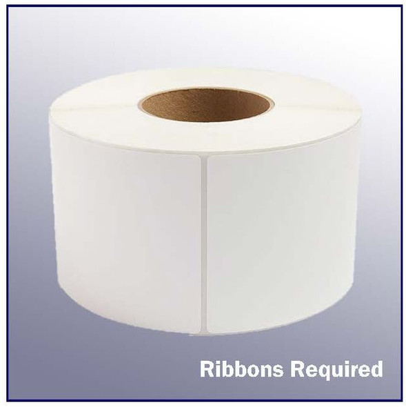 4 x 12 White Thermal Transfer Label