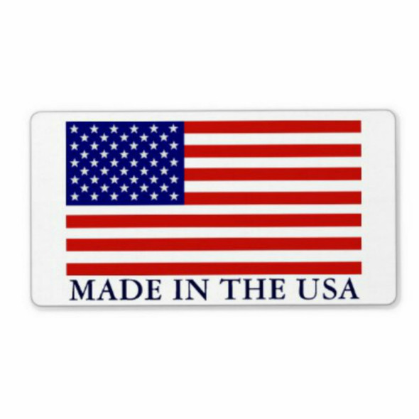 "Made in USA -  2-1/2"" x 4"" Sticker"