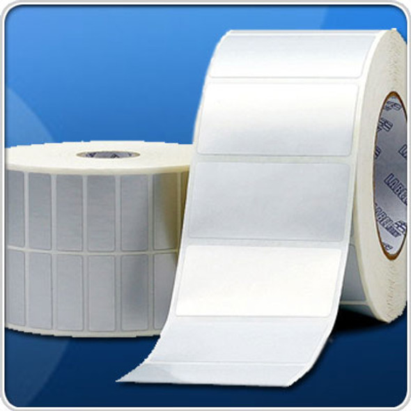 Polyester Labels Blank White Thermal Transfer 3 x 1